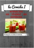 La Comida I - Interactive Notebook Pages - Introduction to