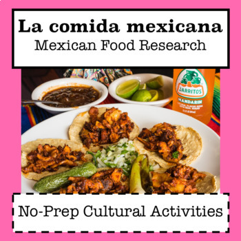 La Comida Mexicana / Mexican Food Research / Activities