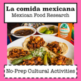 La Comida Mexicana / Mexican Food Research / Cultural Activities