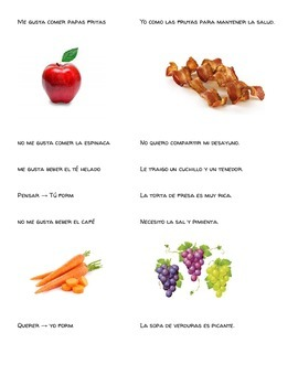 La Comida Running Dictation (Food Vocab)
