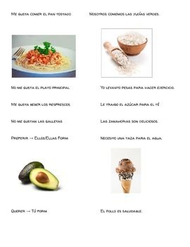 La Comida Running Dictation (Food Vocab)