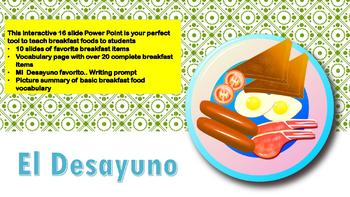 La Comida-Spanish Breakfast Foods-Comprehensive 16 slide Power Point
