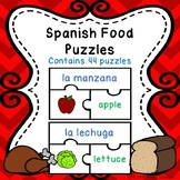 Foods in Spanish Food Game Puzzles La Comida Activity