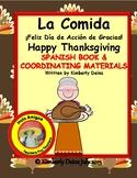 La Comida,  Spanish Thanksgiving BUNDLE book, flash cards,