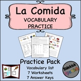 La Comida Vocabulary Practice Worksheets (Así Se Dice Leve
