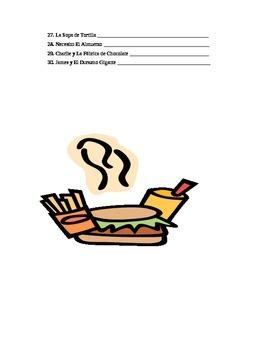 La Comida y Las Bebidas - Práctica - Traduce