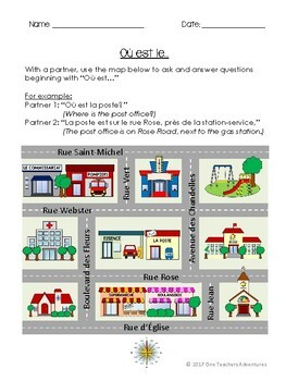 """La Communauté (En Ville)- French """"My Community"""" Full Unit (Grades 4-7)"""