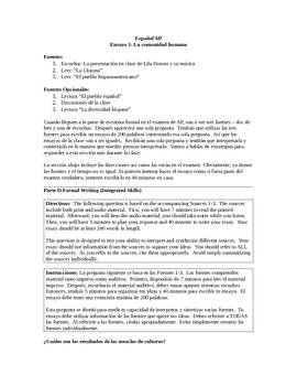 La Comunidad Hispana: Ensayo AP Spanish Pasajes