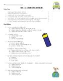 La Conservation d'énergie - 5e - Test