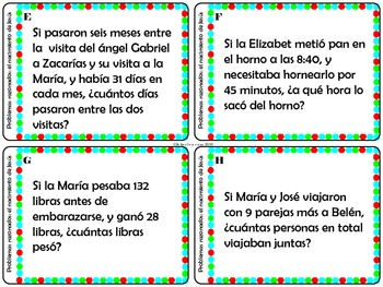 La Corona del Adviento ~ Advent Game with 2 Sets of Task Cards {Spanish}