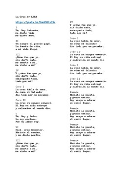 La Cruz (The Cross) by LEAD. Spanish Song with English Translation