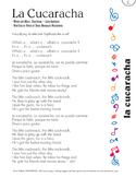 La Cucaracha Lyric Sheet (Bilingual Version)