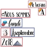 La Date: France-themed Calendar Set in French