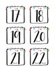 La Date (Printable calendar set in French!)