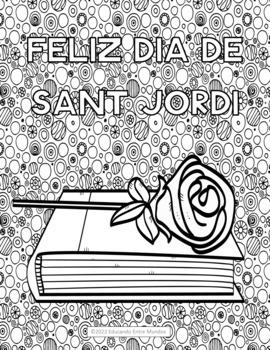 La Diada de Sant Jordi fun coloring