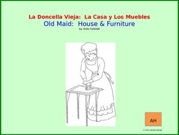 La Doncella Vieja:  Old Maid House Vocabulary in Spanish