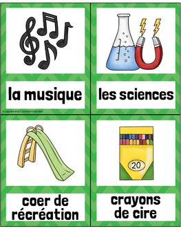 L'Ecole FRENCH School Vocabulary Word Wall