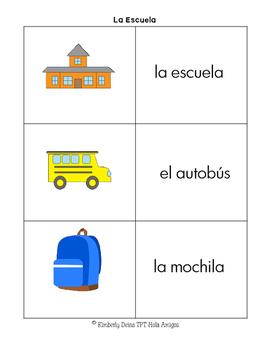 La Escuela - Flash cards, Posters, & Four Corners Game