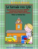 La Escuela-Spanish school BUNDLE-book, flash cards, worksheets, classroom labels