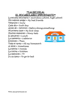 La Escuela - Listening and Reading Activity for Beginning Students