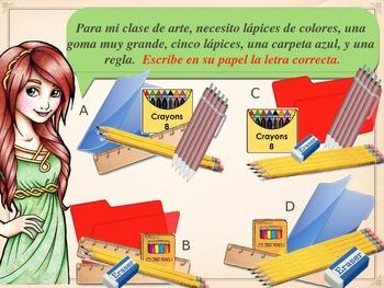 La Escuela Práctica (Spanish 1 Classroom Vocab Interactive Practice)
