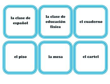 La Escuela - School - Card Game - Los Utiles Escolares - Uno