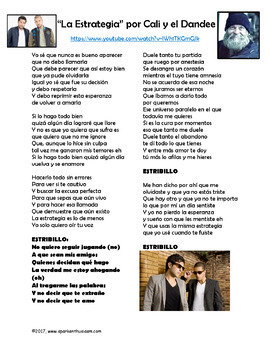 La Estrategia - Spanish Song Lyrics & Activities - Cali y el Dandee