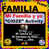La Familia CLOZE Activity for Spanish Class