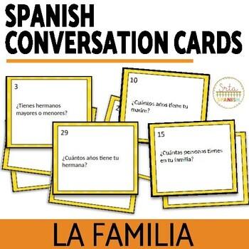 Spanish Family La Familia Speaking Activity