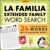 La Familia (Extended Family) - Spanish Family Word Search