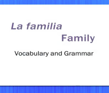 La Familia - Family - Video Tutorial