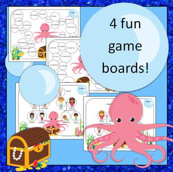 La Familia / Family Vocabulary: Spanish Game ~ Octopus On Guard
