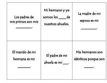 La Familia Game: Family flip card riddles game
