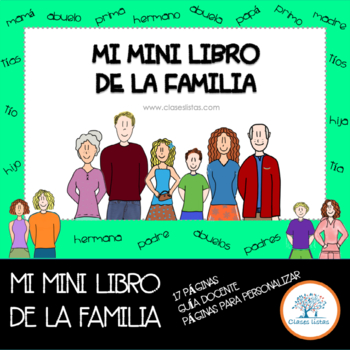 La Familia, Mini Libro. Incluye plantillas para personalizar