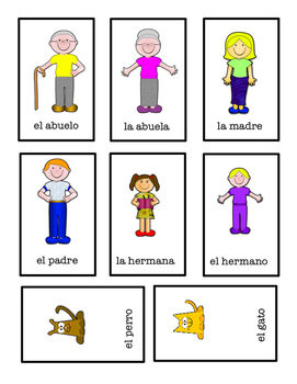 ¿Tienes ___? Card Game with Family Words