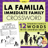 La Familia - Spanish Family Crossword Puzzle Worksheet