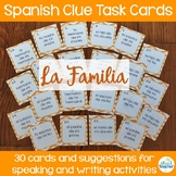 La Familia Spanish Family Member Clue Task Cards