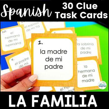 Spanish Task Cards La Familia Family Member Clues