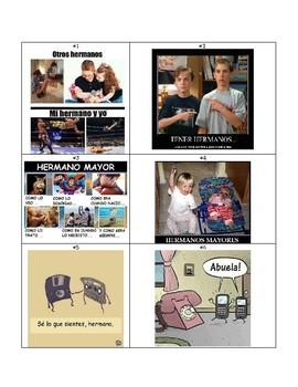 La Familia - Spanish Family Memes Activity