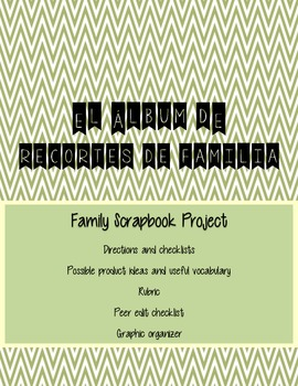 La Familia Spanish Family Scrapbook Project (family nouns, tener, ser)