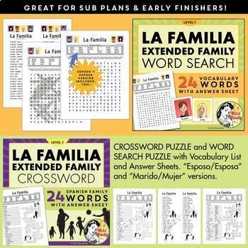 La Familia Spanish Family Unit: Family Tree, Worksheets, Flash Cards