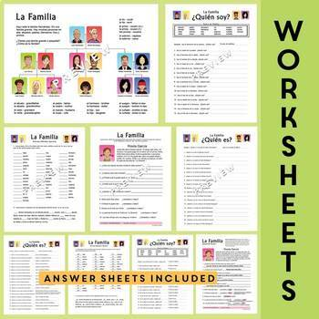 la familia spanish family unit family tree worksheets flash cards. Black Bedroom Furniture Sets. Home Design Ideas