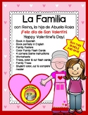 La Familia BUNDLE- Spanish Family book, student reader, flash cards, printables