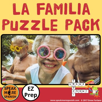 La Familia. Spanish Puzzle Pack and Sub Plans with Family Vocabulary.