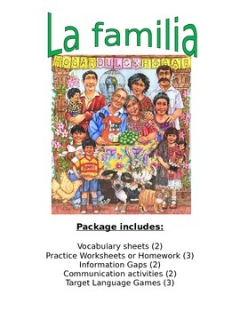 La Familia -  Spanish activities to master talking about family