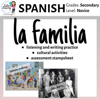 La Familia - Spanish Lesson and Activities on Family