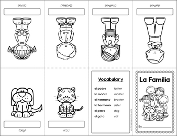 La Familia (The Family) Mini Booklet Activity