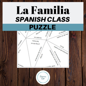 La Familia The Family Vocabulary Review Spanish Puzzle