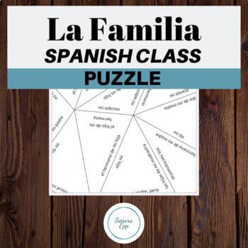 La Familia The Family Vocabulary Spanish Puzzle