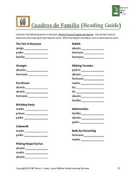 La Familia (The Family) Spanish Unit Lesson Plans
